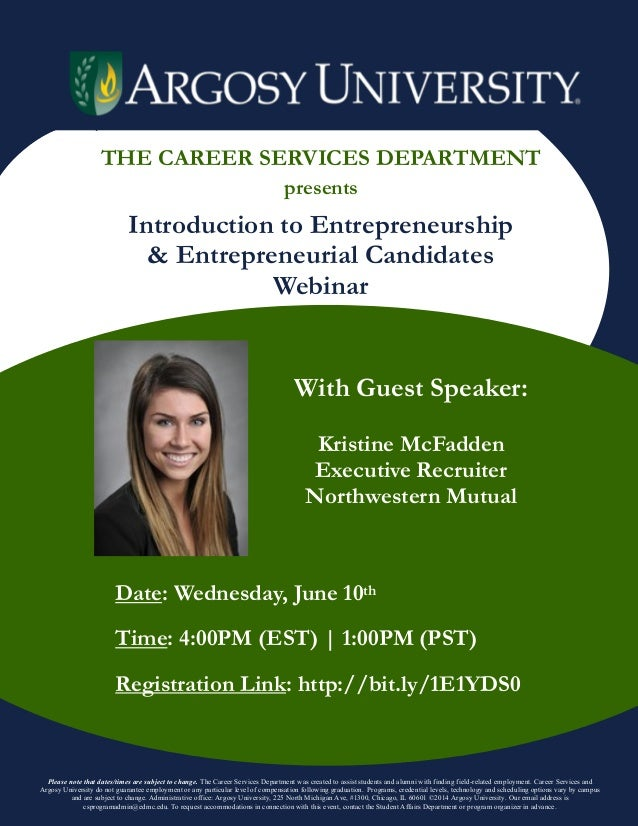 entrepreneurship flyer
