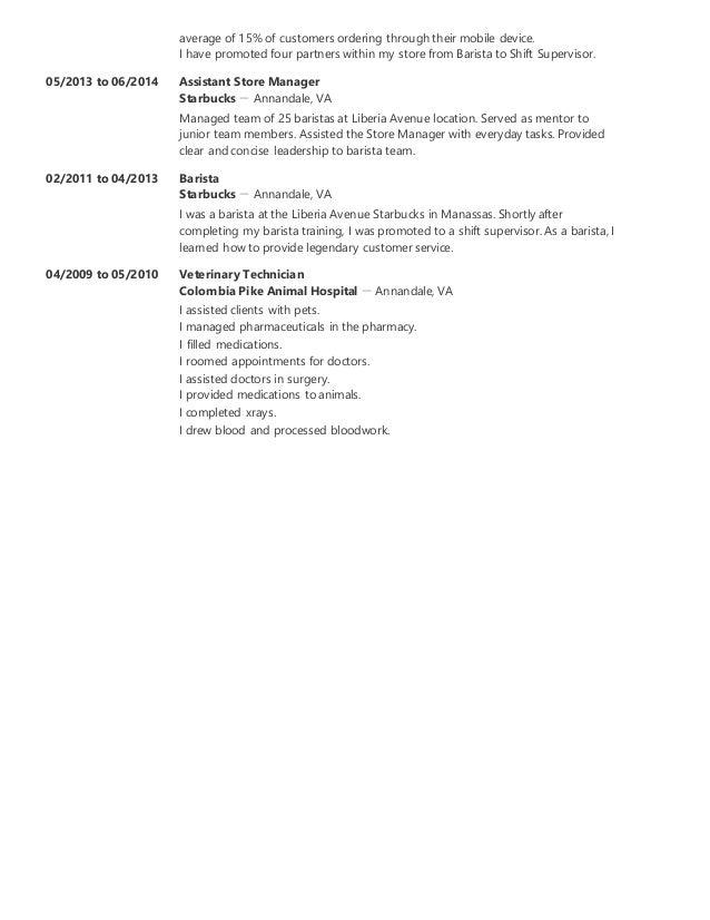 SlideShare  Resume For Starbucks