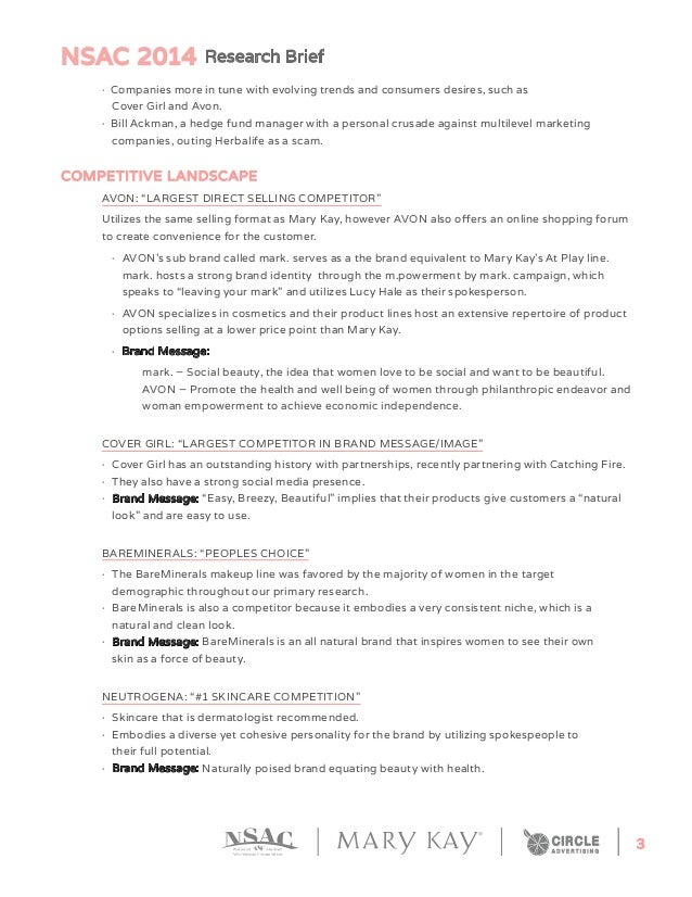 NSAC 2014 Research Brief 3  · Companies more in tune with evolving trends and consumers desires, such as  Cover Girl an...