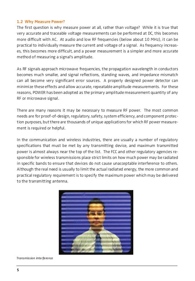 Principles of RF Microwave Power Measurement