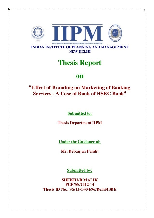 iipm thesis department