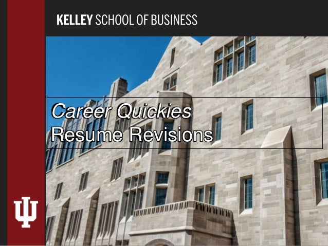 Career Quickies Resume Revisions