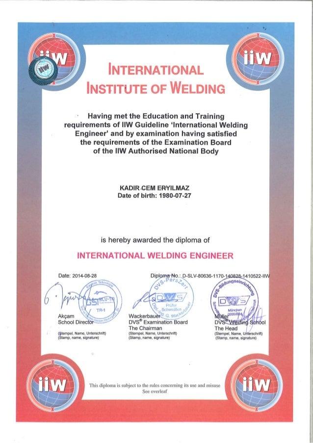 Welding Engineer