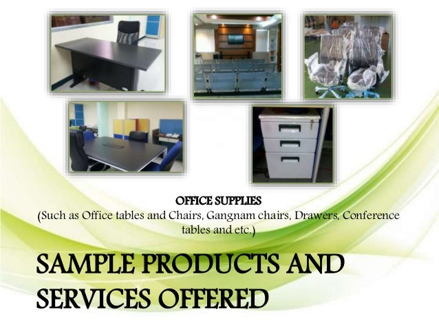 OFFICE PARTITION SAMPLE PRODUCTS AND SERVICES OFFERED ...