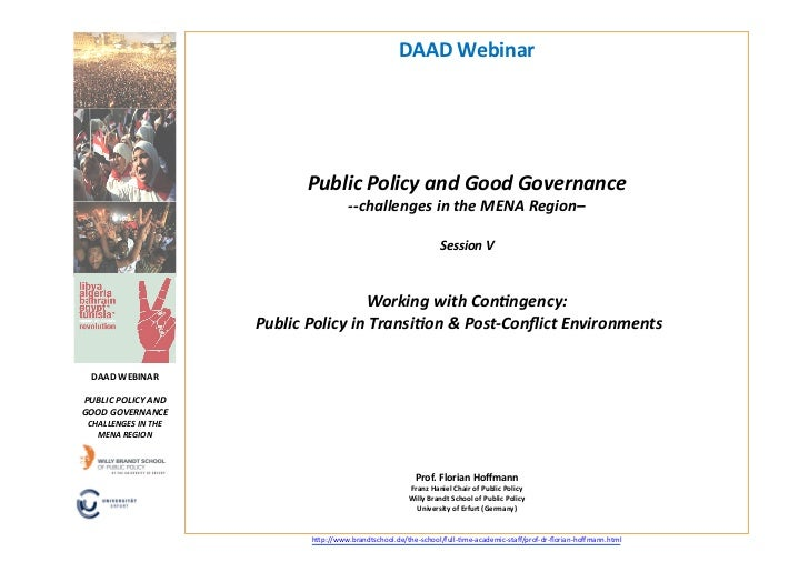DAAD	  Webinar	                                           Public	  Policy	  and	  Good	  Governance	  	                   ...