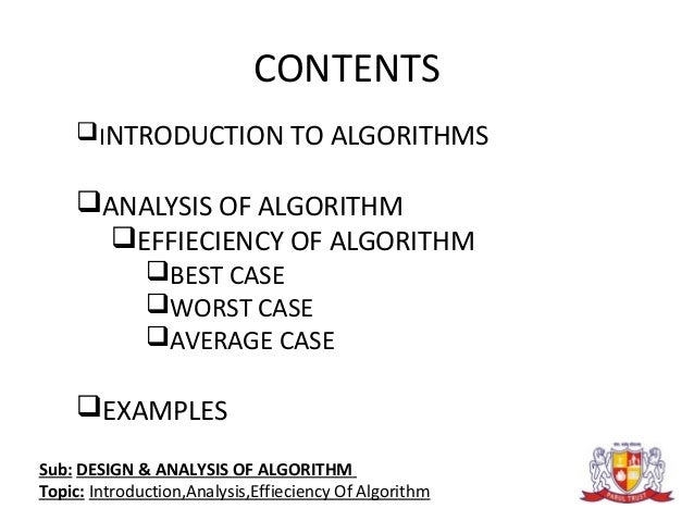 algorithm design and analysis This book advocates the study of algorithm design techniques by presenting most of the useful algorithm  an introduction to the analysis of algorithms.