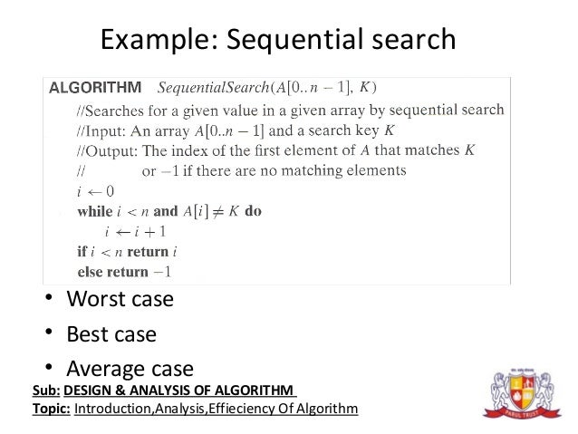 Design and analysis of algorithms introductionanalysiseffieciency of algorithm 9 fandeluxe Image collections