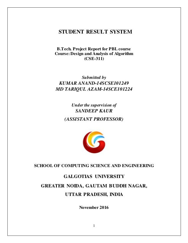 project for student result system