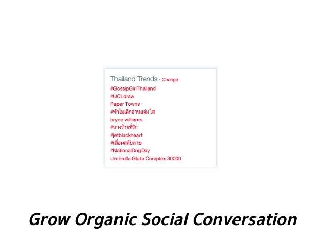 Grow Organic Social Conversation