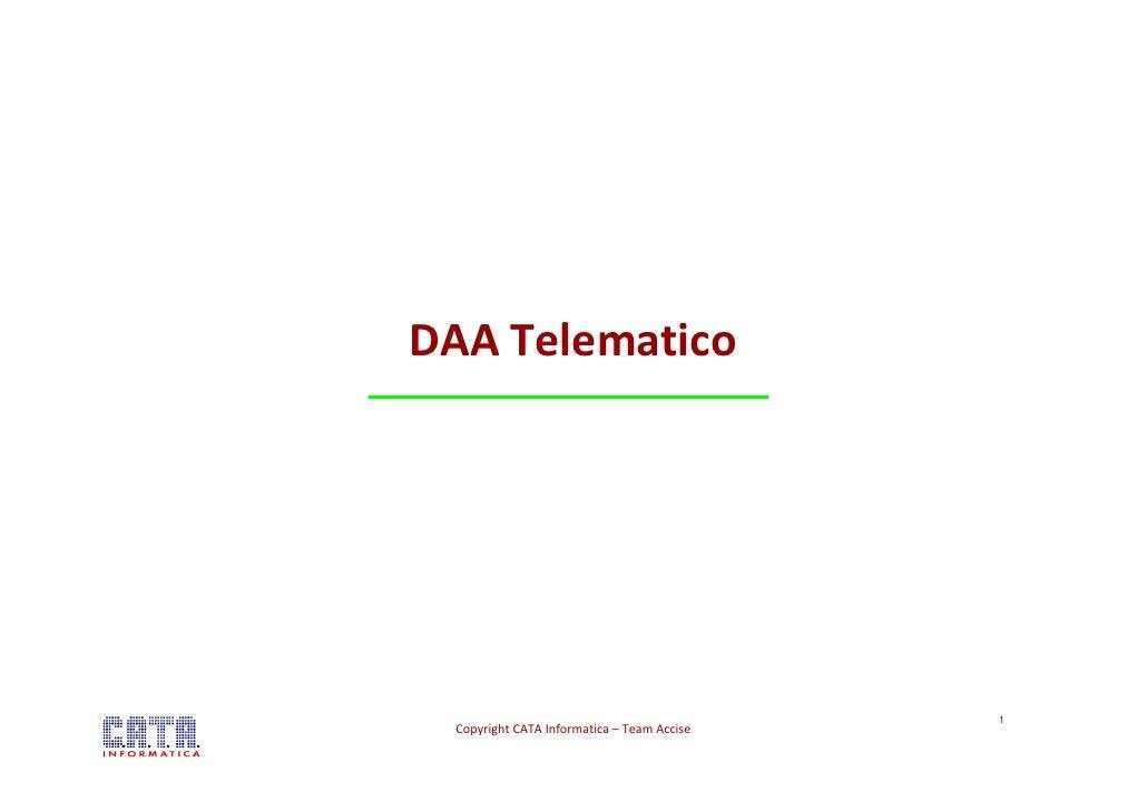 DAA Telematico E - AD