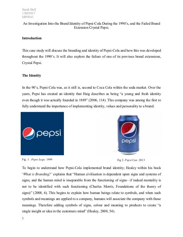 pepsi one case study One of the major initiatives undertaken to focus on its core businesses was hiving-off its bottling operations into a separate new company called pepsi bottling group.