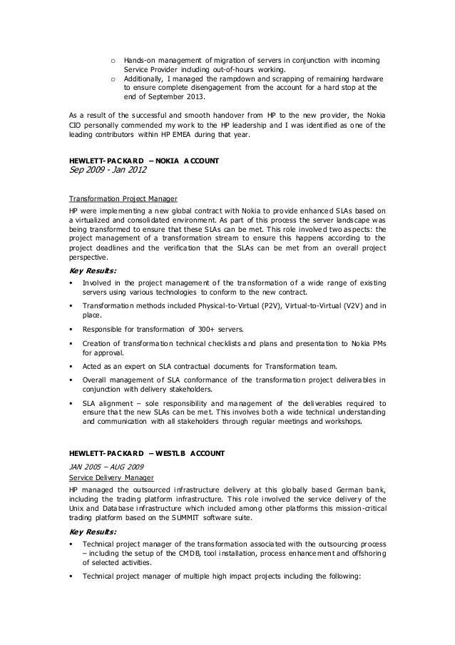 Gavin Convery - Global Transformation Project Manager - Contract CV.0…