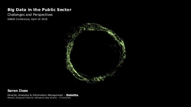 Technology Management Image: DABAI: Big Data In The Public Sector