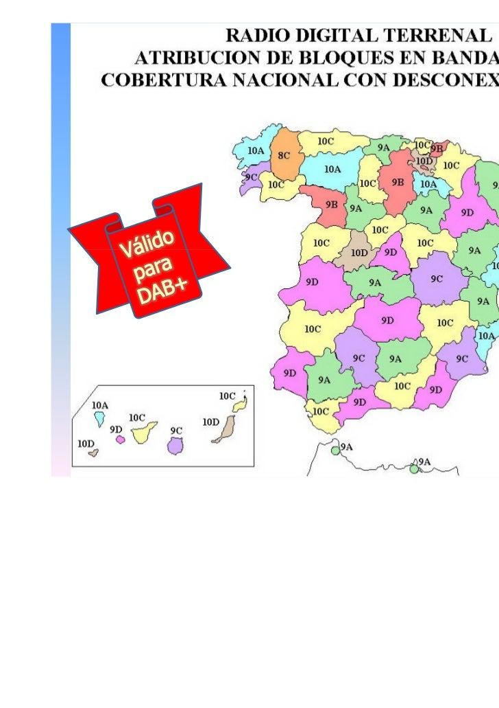 Mapa Cobertura Dab España.Dab Broadcast 26 Octubre 2011