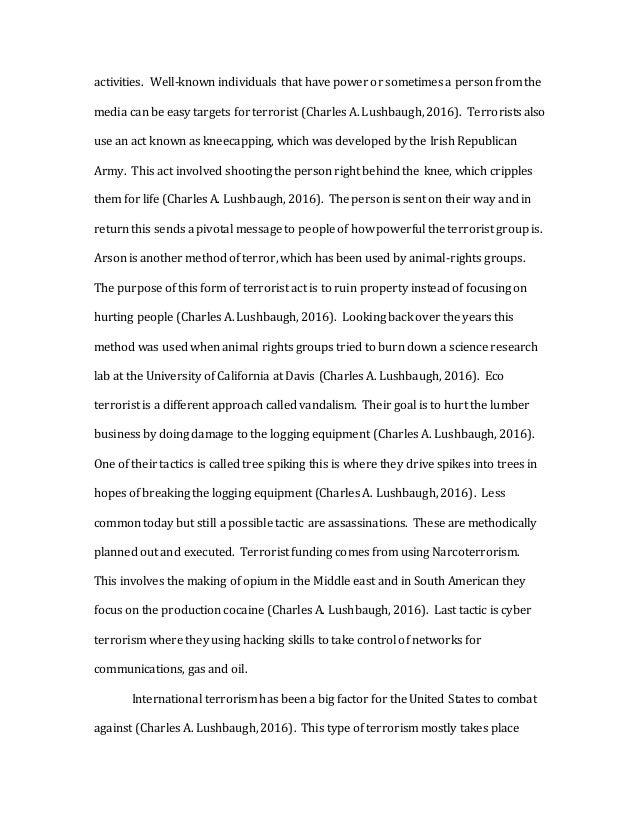 Terrorism Research Paper