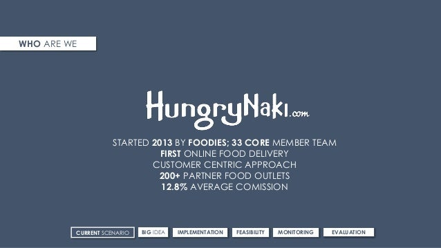 WHO ARE WE STARTED 2013 BY FOODIES; 33 CORE MEMBER TEAM FIRST ONLINE FOOD DELIVERY CUSTOMER CENTRIC APPROACH 200+ PARTNER ...