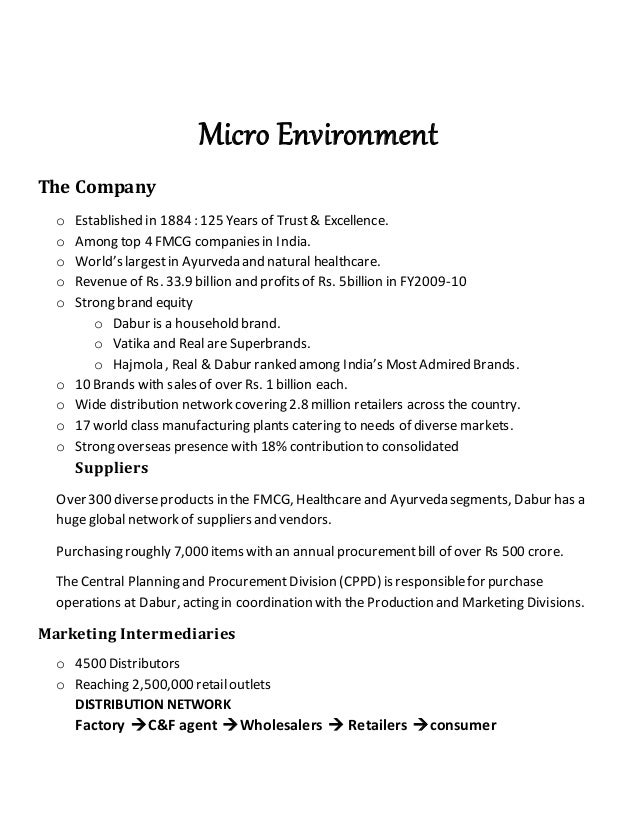 micro and macro environment of cadbury Environmental forces can be divided into two macro and micro environments micro environment:-these are the immediate environmental factors of the business organizations eg the employee, shareholder, customer, etc macro environment:-these are the forces that the organization cannot control or influence or manipulate, eg demography, national or physical forces, etc.