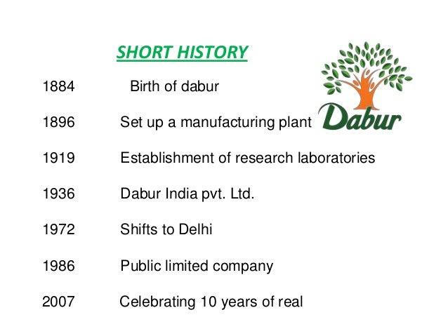 dabur india limited a indian consumer goods company marketing essay Few facts about the company : leading consumer goods company in india with a turnover of rstasty digestives4 million retail outlets all over india 5dabur india ltd vatika  and it has set very high standards in developing products and processes that meet stringent quality norms.