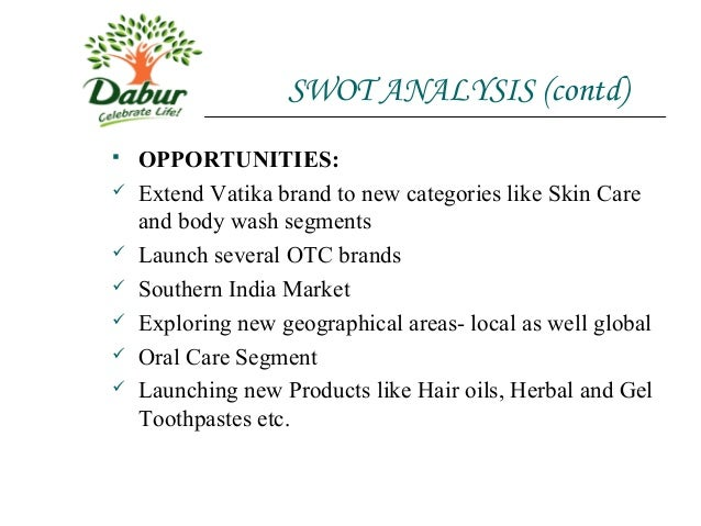 Dabur India SWOT Analysis and Marketing Mix