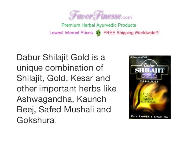 Dabur Shilajit Gold is a unique combination of Shilajit, Gold, Kesar and other important herbs like Ashwagandha, Kaunch Be...