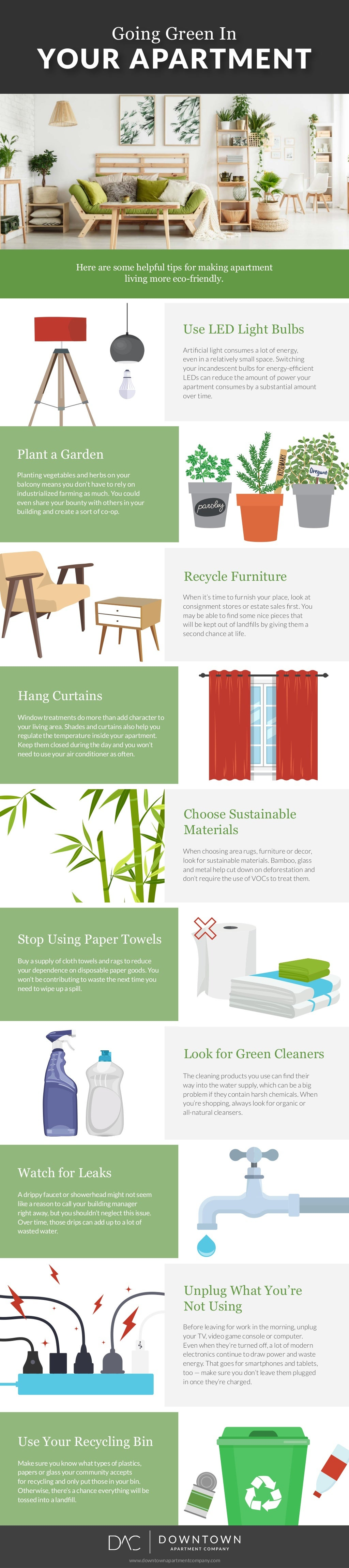 Going Green In YOUR APARTMENT Plant a Garden Planting vegetables and herbs on your balcony means you don't have to rely on...