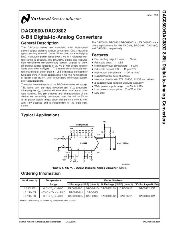 DAC0800/DAC0802 8-Bit Digital-to-Analog Converters                                                                        ...