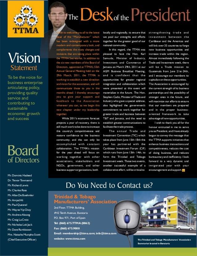 TTMA Newsletter 2011 Slide 2