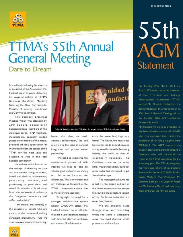 TTMA Newsletter 2011 Slide 3