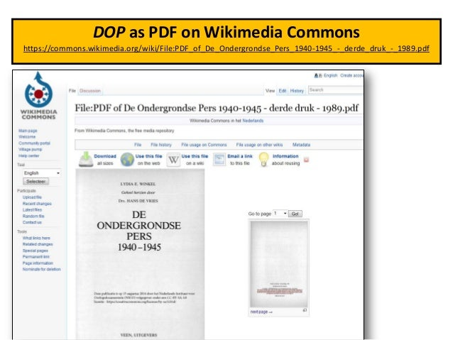 Linked Open Data case study (illegal newspapers WW2