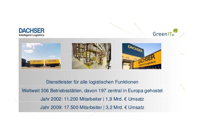 Dienstleister für alle logistischen Funktionen Weltweit 306 Betriebsstätten, davon 197 zentral in Europa gehostet Jahr 200...