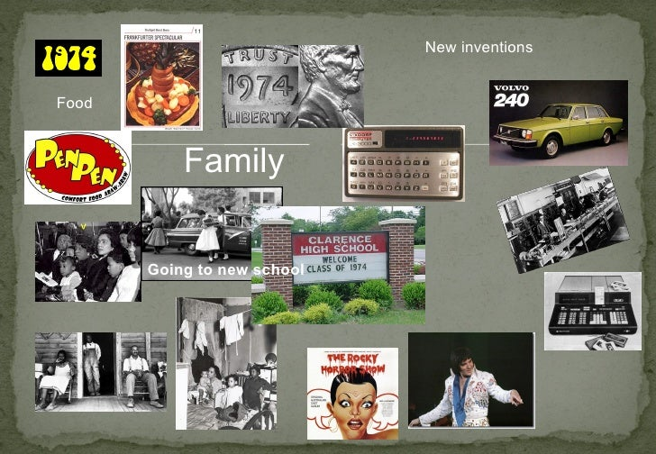 Food Family Going to new school New inventions