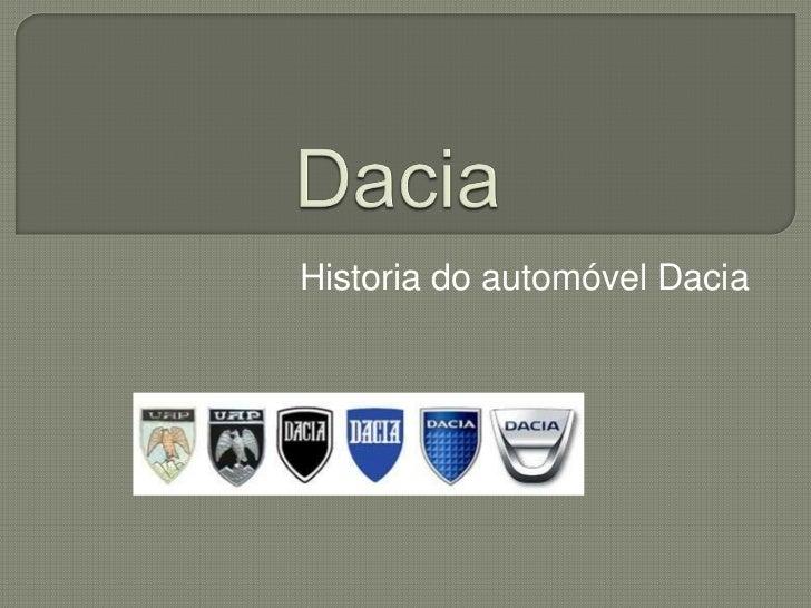 Historia do automóvel Dacia