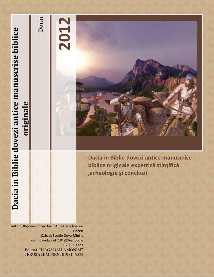 2012                                                   DorinDacia in Biblie dovezi antice manuscrise biblice              ...