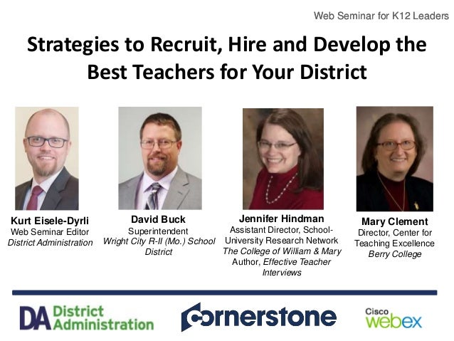 Strategies to Recruit, Hire and Develop the Best Teachers for Your Di…