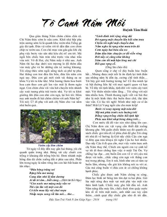 Đặc San Trà Vinh N ăm Giáp Ngọ - 2014 trang 101 Huỳnh Tâm Hoài Qua giửa tháng Năm chôm chôm chín rộ. Chi Năm thức sớm lo n...