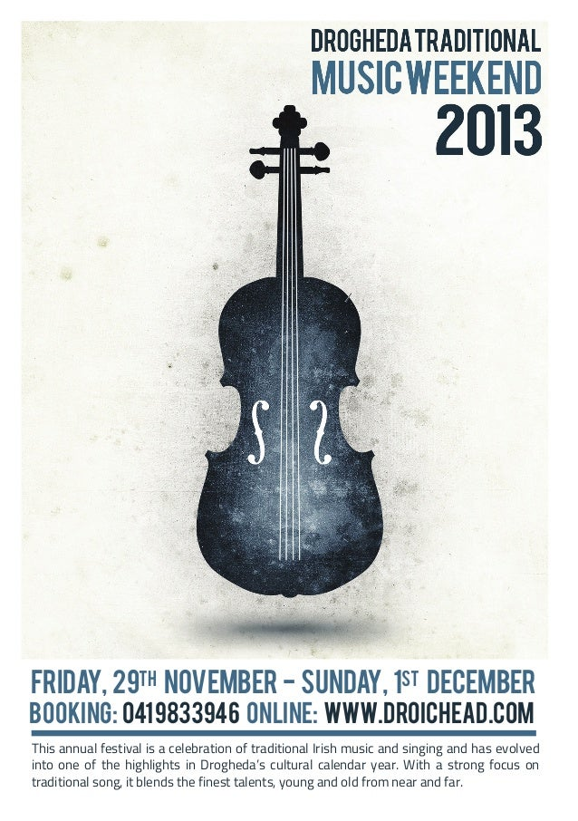 Friday, 29th November - Sunday, 1st December  Booking: 041 9833946 Online: www.droichead.com  This annual festival is a ce...
