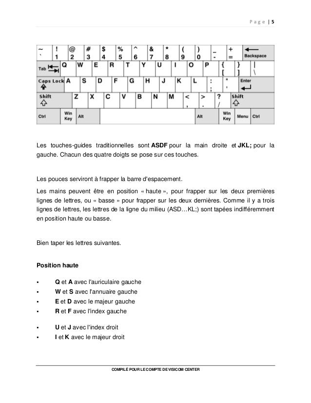 Cahier D Exercices Dactylographie