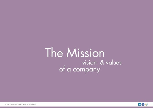 The Mission vision & values of a company © Fabio Arangio - Graphic designer & instructor