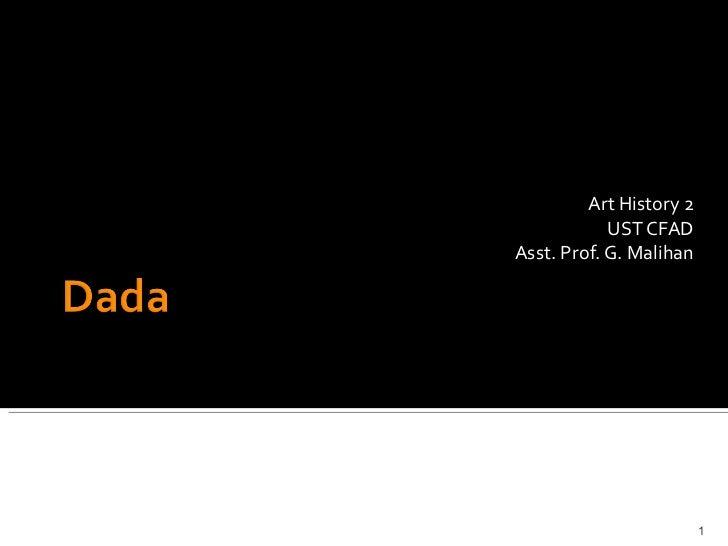Art History 2 UST CFAD Asst. Prof. G. Malihan
