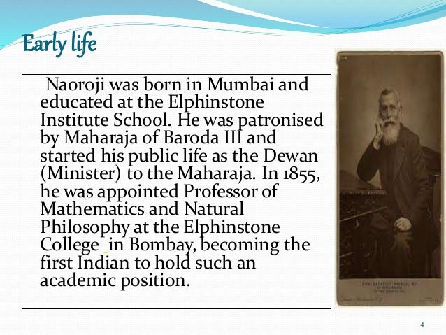 short essay on dadabhai naoroji