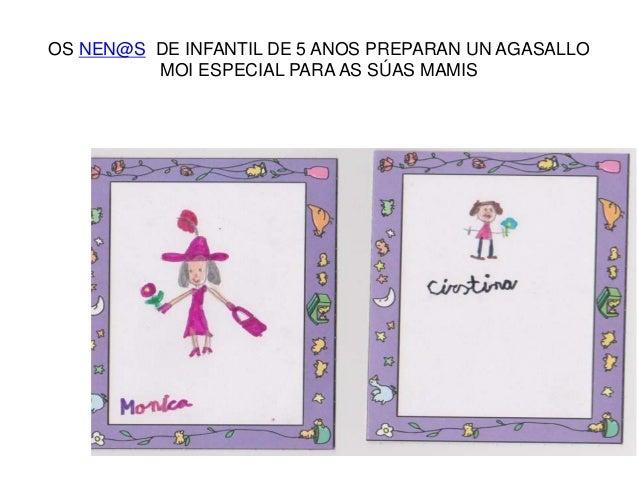 OS NEN@S DE INFANTIL DE 5 ANOS PREPARAN UN AGASALLO MOI ESPECIAL PARA AS SÚAS MAMIS
