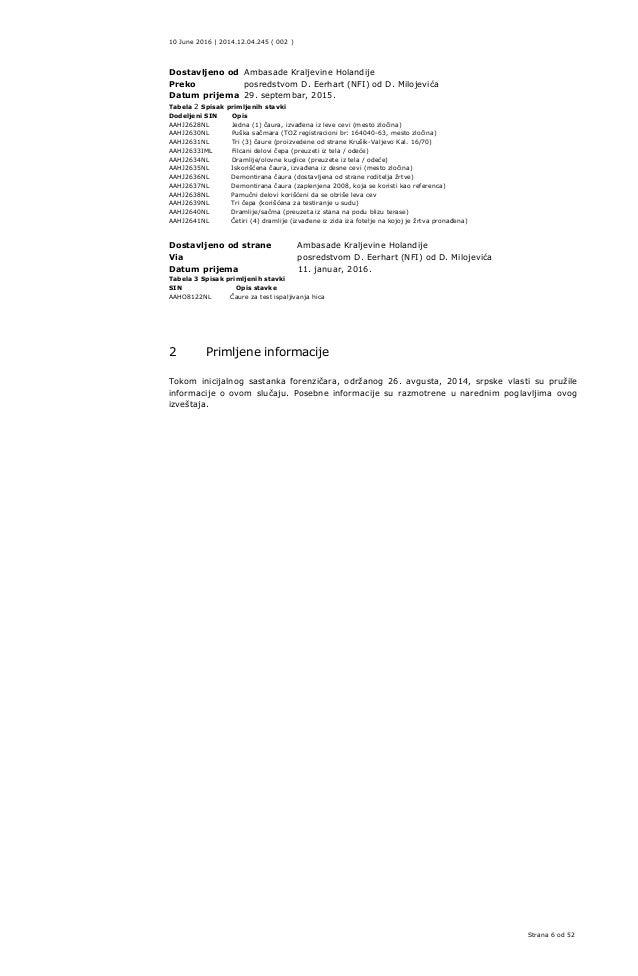 Forenzički dokumenti s datumima