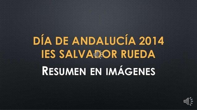 DÍA DE ANDALUCÍA 2014 IES SALVADOR RUEDA  RESUMEN EN IMÁGENES