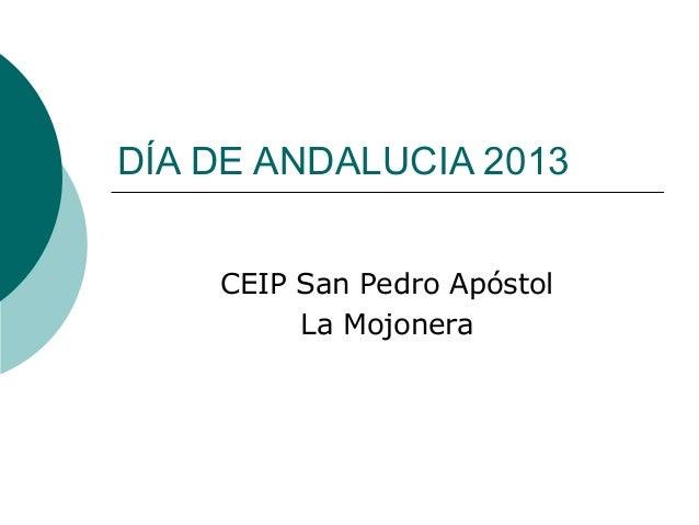DÍA DE ANDALUCIA 2013 CEIP San Pedro Apóstol La Mojonera