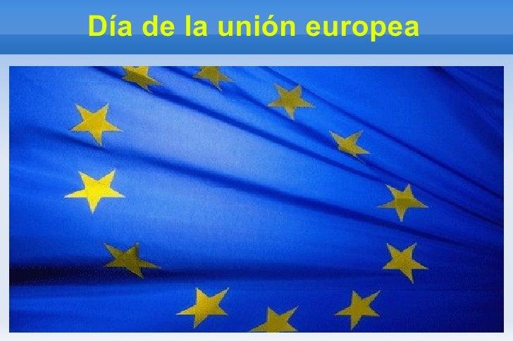 Día de la unión europea