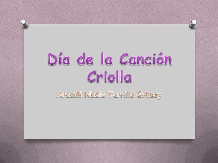 O El Día de la Canción Criolla fue establecido  hace exactamente 65 años cuando el Dr.  Manuel Prado Ugarteche era preside...