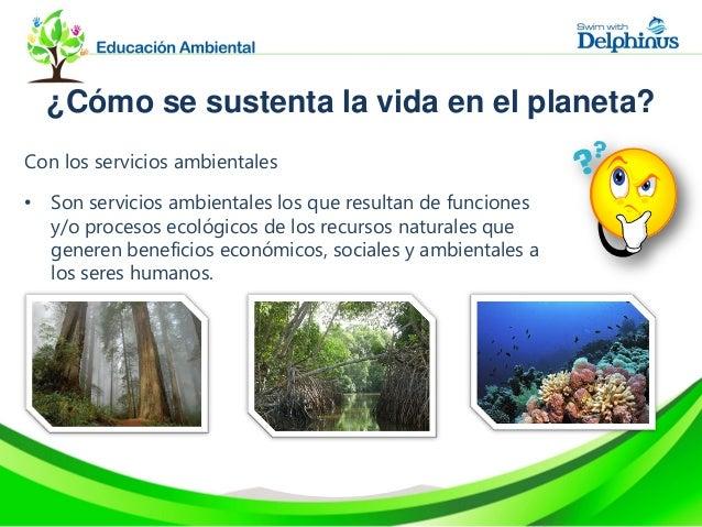 Por ejemplo…• Producción de alimentos, madera, productos medicinales ehidrológicos, captura de carbono, equilibrio del cli...