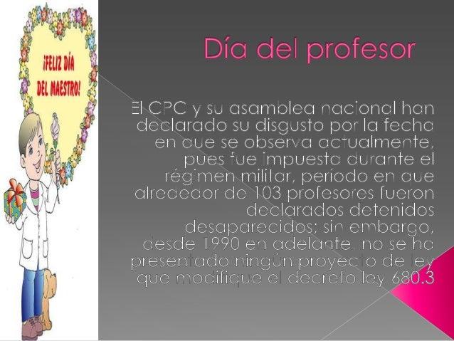 Día del profesor eduardo vargas colegio araucaria Slide 2