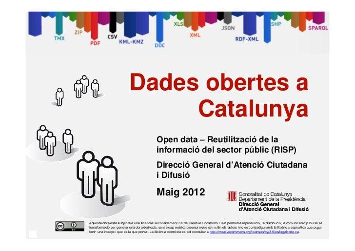 Dades obertes a                                   Catalunya                                                 Open data – Re...