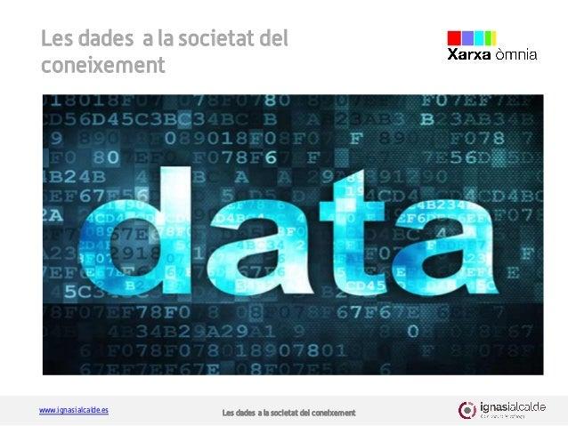 www.ignasialcalde.es Les dades a la societat del coneixement Les dades a la societat del coneixement